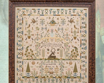 Pre-order New LIMITED EDITiON! HANDS ACROSS the SeA Sarah Braizear 1829 cross stitch embroidery pattern cottageneedle.com Queen of the May
