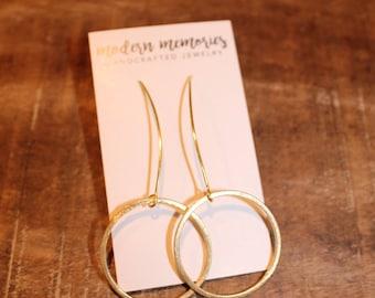 Gold or Silver Hoop Dangle Earrings | Gold Hoop Earrings, Gold Hoops, Hoops, Simple Gold Hoops, Dainty Hoops