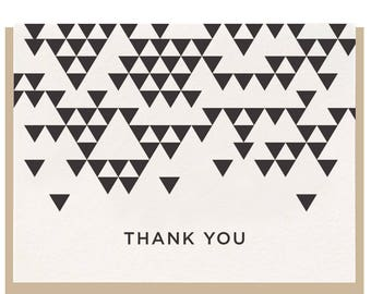 Letterpress 'Thank You Triangle' Greeting