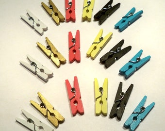 Mini Clothespins - Scrapbooking - Collage - 18 (1in)