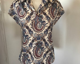 Vintage 70's collared blouse