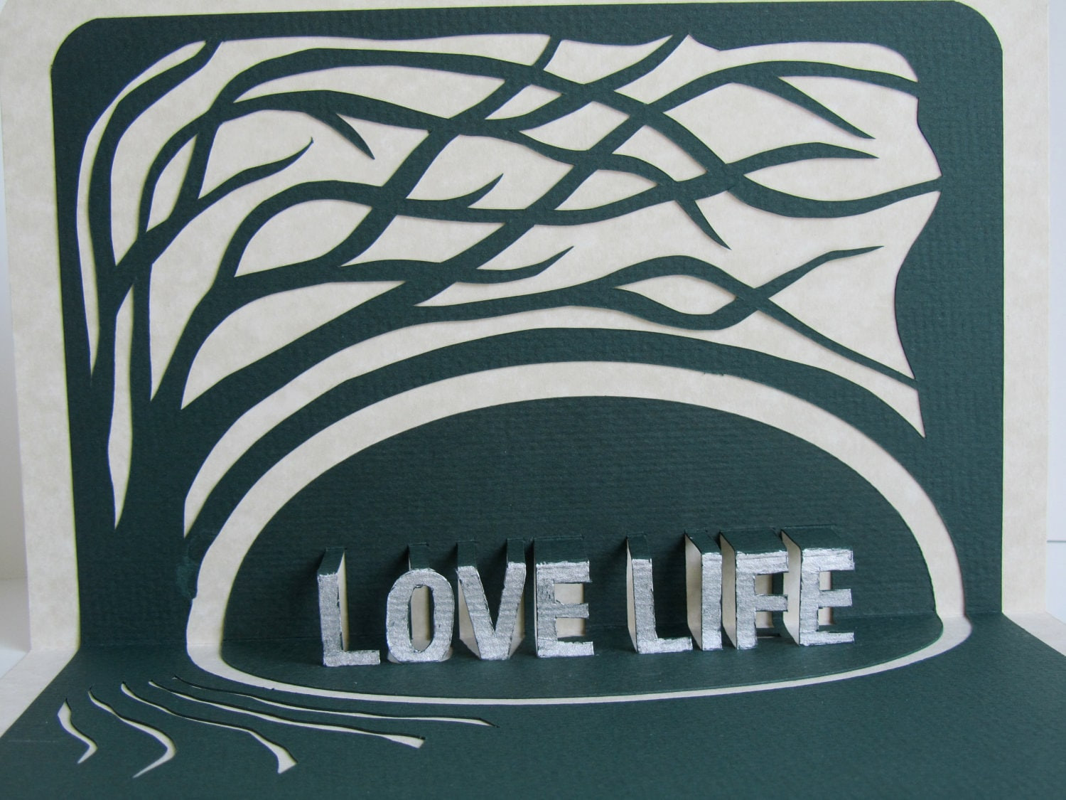 Love life 3d pop up greeting card home dcor with tree of zoom kristyandbryce Gallery