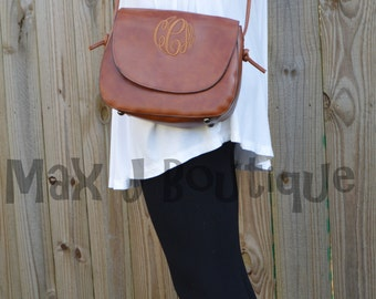 Monogrammed Purse  - Personalized Crossbody bag - Embroidered Bag