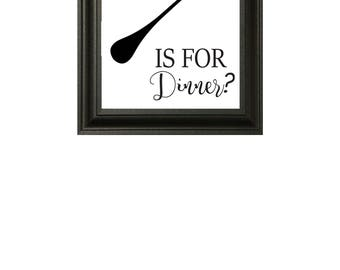 What The Fork Is For Dinner Printable