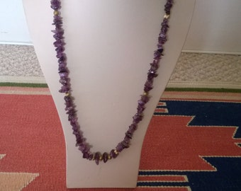 Amethyst Nugget Bead Necklace