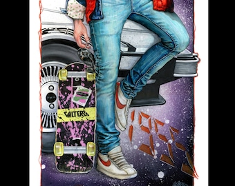 Back to the Future A3 Print