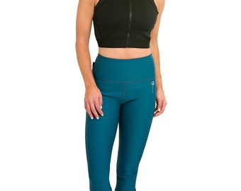 Delfin Spa Heat Maximizing Neoprene Anti Cellulite Fitness Capris with Cell Pocket SWEAT IT OFF! (Run, Cardio, Exercise, Jog, Sauna Suit)
