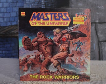 Masters of the Universe The Rock Warriors He-man Super adventure Golden Book Vintage Retro 80's collectible 1985 comic style