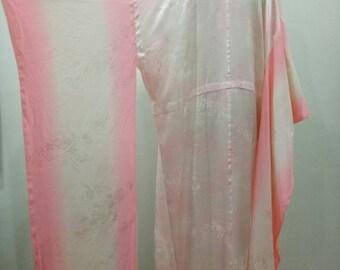 Silk Furisode Kimono , Vintage 1960's Furisode , Square Silk Furisode
