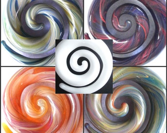 Blown Glass Spiral Custom Necklace Pendant Charm