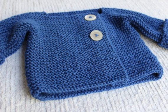 Bebeknits Simple French Style Lightweight Baby Cardigan Knitting