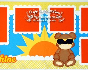 Scrapbook Page Kit My Sunshine Boy Girl Bear 2 page Scrapbook Layout 131