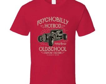 Psychobilly Hot Rod T Shirt