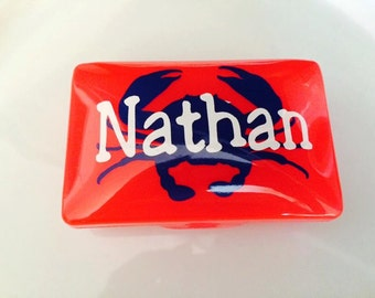Personalized Pacifier Case-Crayon Holder-Retainer Case-First Aid Kit