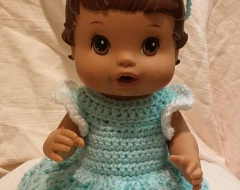 Baby Alive Green Sparkle Dress, baby alive clothes, baby alive outfit,
