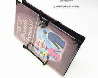 Handbook for the Recently Deceased Book Wallet - Spirit Guide Credit Card Holder - Beetlejuice Book Cover Wallet - Lydia Pocketbook