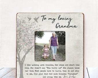 Grandma Gift Grandma CHRISTMAS Gift Grandma Mother's Day gift Personalized Picture Frame Grandma Frame Nana Gift Mimi Gift Grandmother gift
