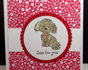 Doggie for You card(THY-009), Just for You card, Thinking of You