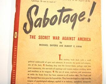 Vintage Book Sabotage! The Secret War Against America c1944