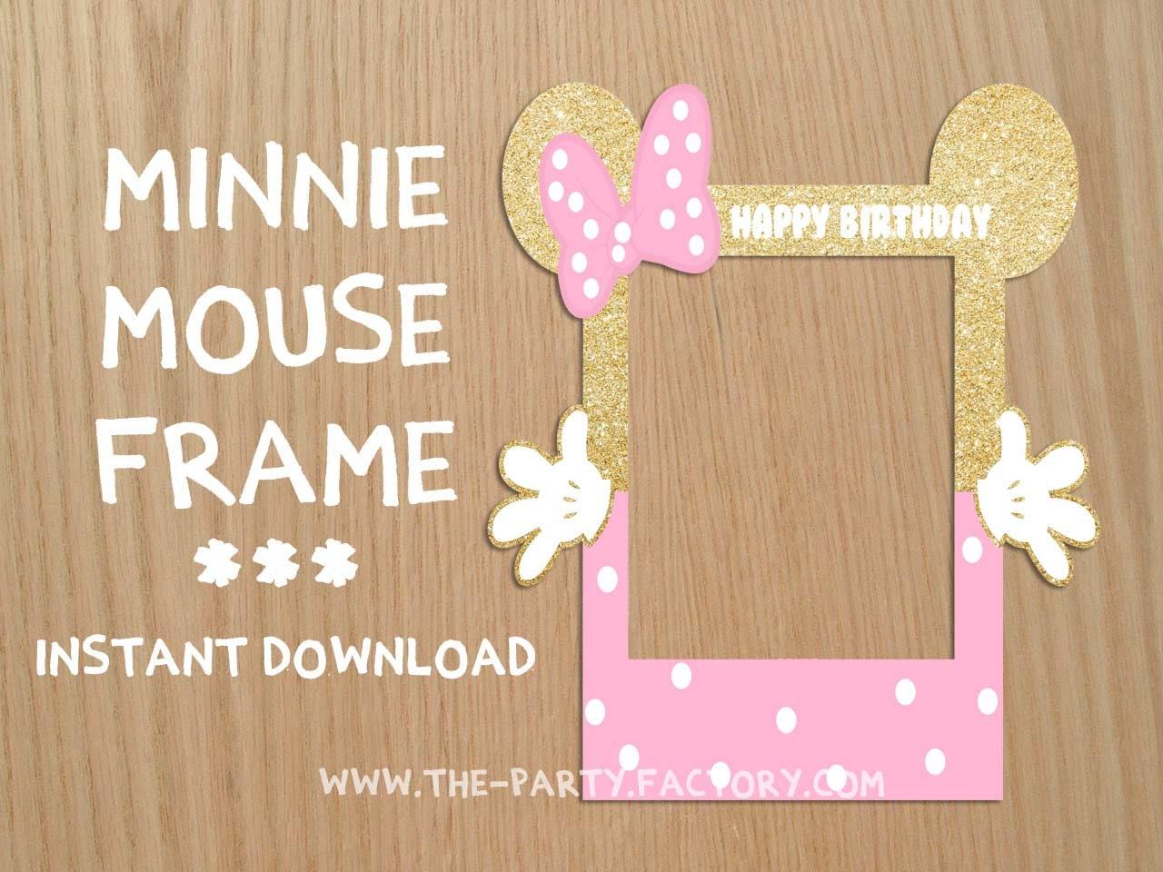 Minnie Mouse Stand Bilderrahmen individuelles Design