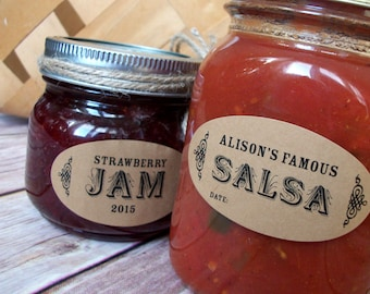 personalized canning labels etsy