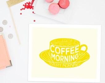digital Coffee decor   digital coffee art print   Coffee sign   instant download   digital download   yellow kitchen decor   coffee download