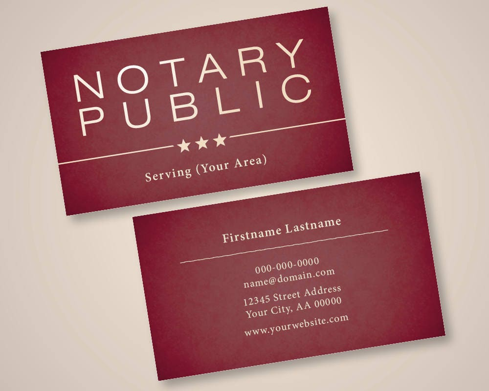 Premium Notary Public Business Cards FREE SHIPPING