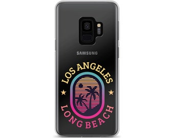 Los Angeles Long beach Samsung case - Samsung S7 case, Samsung S7 Edge, Samsung S8 case, Samsung S8+ case Samsung S9 case, Samsung S9+ case