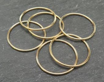 Gold Filled Stacking Ring 20mm ~ Size P/8/56