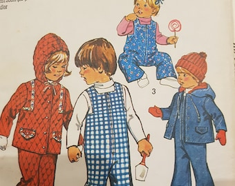 Vintage Sewing pattern childs size 3 & 4