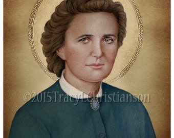 St. Gianna Molla (B) Catholic Art Print Pro-Life Patron Saint #4225