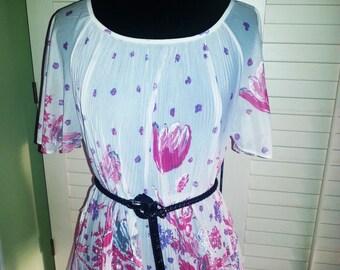 Vintage shirt, vintage flower shirt, vintage top.vintage blouse, hippie blouse, hippie flower power