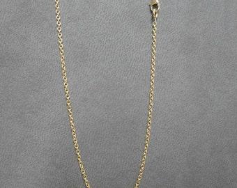 Collier,Chaîne forçat ronde, 1.3 mm,bijoux cadeau pour elle, or jaune 750/1000
