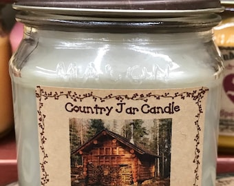 Jar Candle - Half Pint - Cabin in the Woods