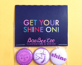 Get Your Shine On! Button Pack