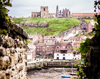 "Whitby Abbey Photography - Whitby Harbour - Miniature Style - English Seaside Town - ""Tunnel Vision"""