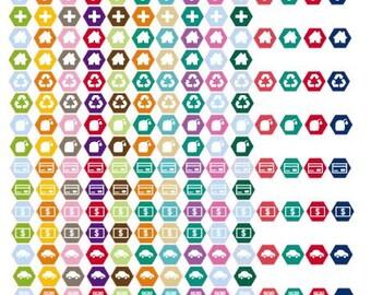 """Hexagon .4"""" Icons"""