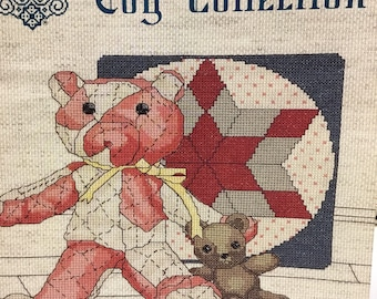 My Antique Toy Collection,  cross stitch, designs by Gloria and Pat,  vintage book