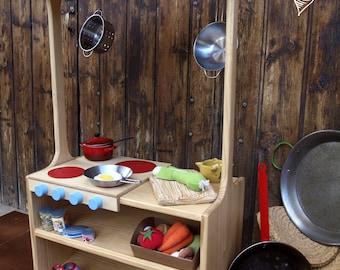 Estructura de Juego, cocina, cuineta, kitchennete made of wood, kochnische