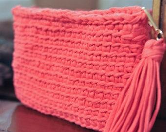 Crochet Bag Clutch Summer bag women bag Pink bag Beach bag Gift for her Birthay gift