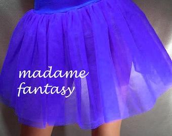 Royal Blue tutu skirt net spandex top