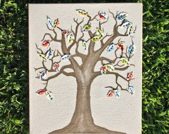 Tree Fabric Art