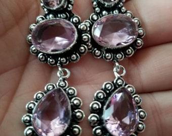 Cotton Candy Pink Quartz Earrings!
