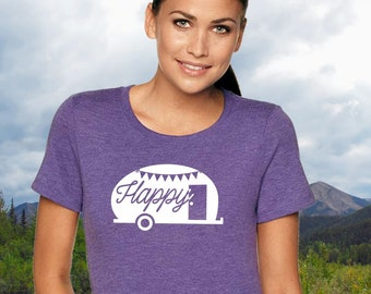 Happy Camper T-shirt ~ Adventure, camping, trailer, travel, wander shirt