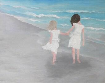 Childrens Custom Beach Painting, Childrens Custom Painting