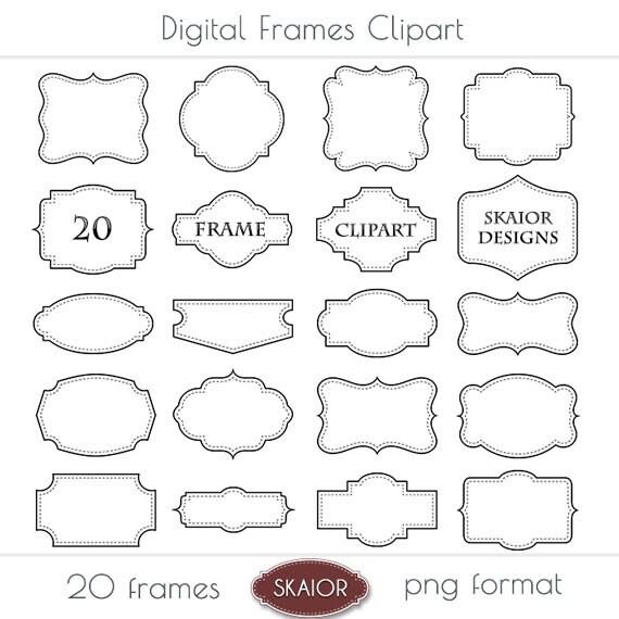 Frame Clipart Frames Clip Art Border Label Digital Frames