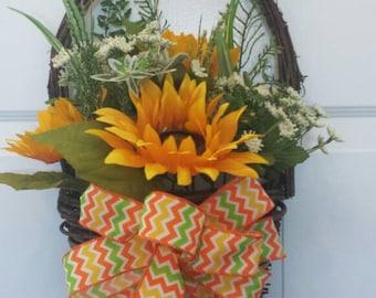 Spring wreath / front door wreath / door wreath / holiday wreath / sunflowers wreath / Easter wreath/summer wreath