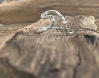 Sterling Silver Infinity Wave Ring
