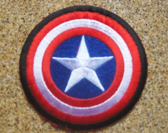 Free shipping AVENGERS CAPTAIN AMERICA Patch Badge 7x7cm