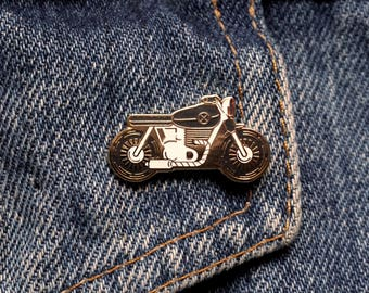 Pin's BIKE / Noir-Or / EUDOXIE Motorcycle Gear